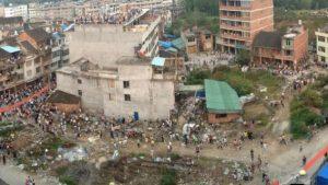il luogo delle proteste contro la demolizione