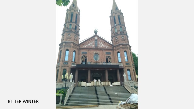 La cattedrale di Cristo Re a Wuqiu dove mons. Jia risiede