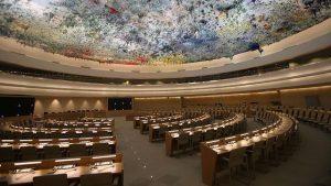 La Sala dei Diritti Umani e dell'Alleanza delle Civiltà è il luogo dove si riunisce il Consiglio per i diritti umani delle Nazioni Unite a Ginevra e dove cui il 6 novembre la Cina si sottoporrà alla Revisione Periodica Universale dell'ONU (Credits: Ludovic Courtès – CC BY-SA 3.0)