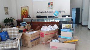 L'equipaggiamento portato via dalla scuola Rehoboth