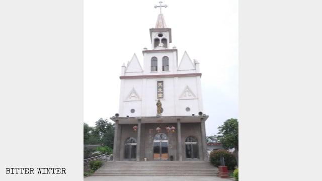 La chiesa cattolica del villaggio di Baizhuang