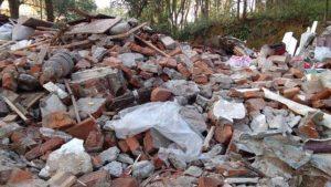 Il tempio di Xishan ridotto a un cumulo di macerie