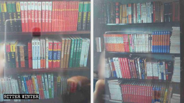 Libri ateistici in una chiesa delle Tre Autonomie della città di Anshan