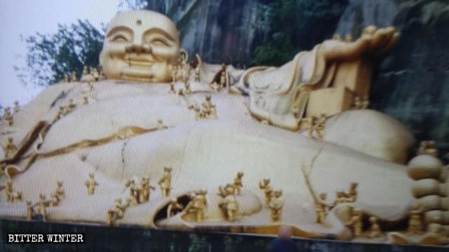 L'aspetto originario della statua di Maitreya