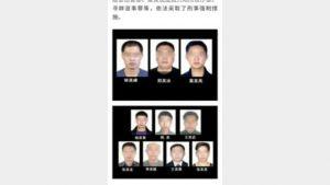 I media di Stato cinesi hanno reso noti i nomi dei dieci veterani