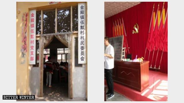 Sede di una Chiesa domestica nella città di Linfen, nella provincia dello Shanxi trasformata in sezione del partito