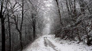 sentiero di montagna ghiacciato