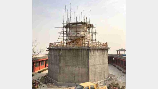 La statua della Guanyin viene distrutta