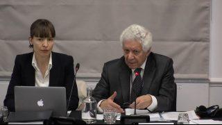 Hamid Sabi (a destra), avvocato di fama internazionale e consulente del Tribunale