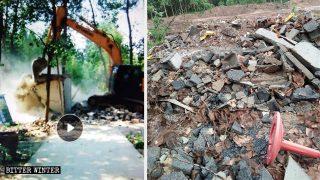 La casa di Wei Lihui è stata demolita con la forza