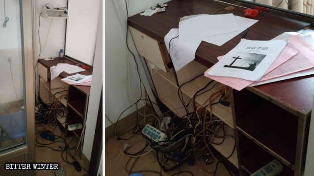 Computer e stampanti sono stati portati via