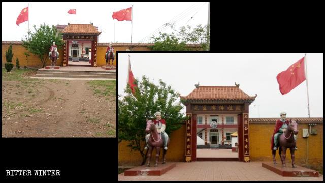 L'aspetto esteriore del «Tempio del presidente Mao Buddha»
