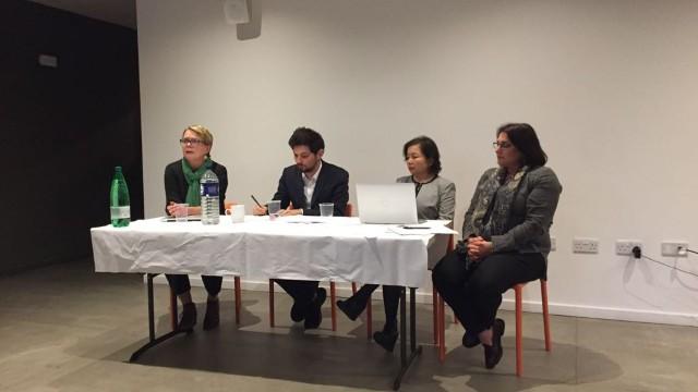 I componenti del comitato, da sinistra a destra: la dottoressa Rachel Harris, il rabbino Benji Stanley, Rahima Mahmut e Mia Hasenson-Gross