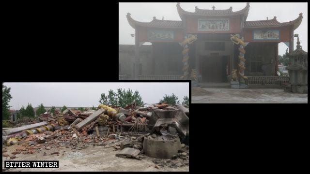 Il tempio della Terra Pura, prima e dopo la demolizione