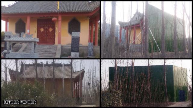 L'aspetto originale del Palazzo dell'Imperatore di giada e come appare dopo essere stato nascosto al mondo esterno