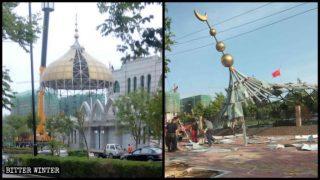 I simboli islamici sono stati eliminati dalla moschea della contea Puyang