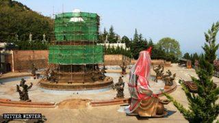 La statua di Guanyin che stilla acqua è stata smantellata a fine aprile