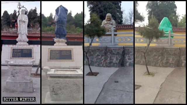 Nel tempio sul monte Kunlun, nel distretto di Zichuan della città di Kunlun. sono state coperte altre due statue all'aperto raffiguranti il Bodhisattva Kṣitigarbha e il Buddha Maitreya