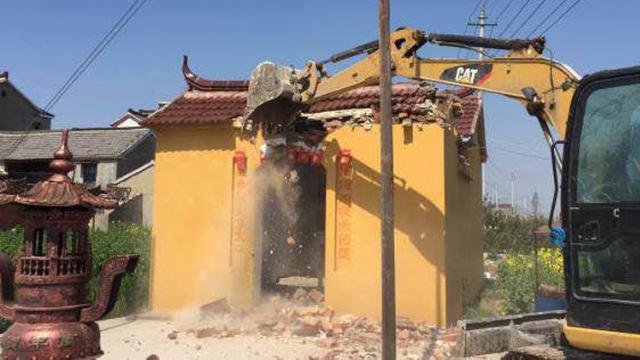 Nel giro di 26 giorni, quasi 6mila templi di Tudi sono stati demoliti nella città di Gaoyou nello Jiangsu