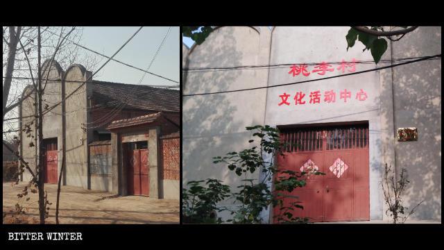 La Chiesa del Vero Gesù del villaggio di Taoli è stata trasformata in un centro per attività culturali