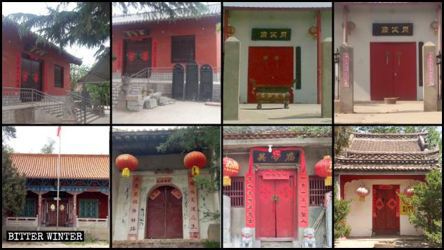 Diciotto templi sono stati chiusi a metà maggio nel borgo di Guangwu