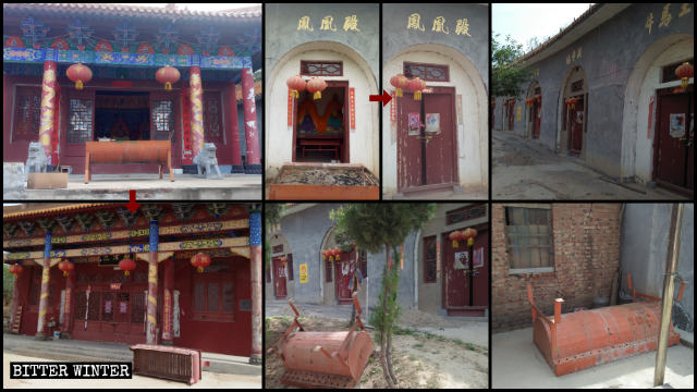 Il Grande tempio Fenghuangding è stato chiuso il 13 maggio
