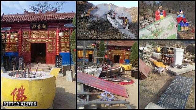 I templi sul monte Fenglong sono stati demoliti
