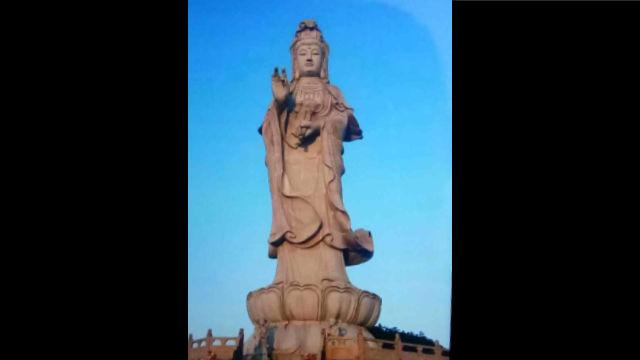 L'aspetto originario della statua della Guanyin del tempio Mingshan