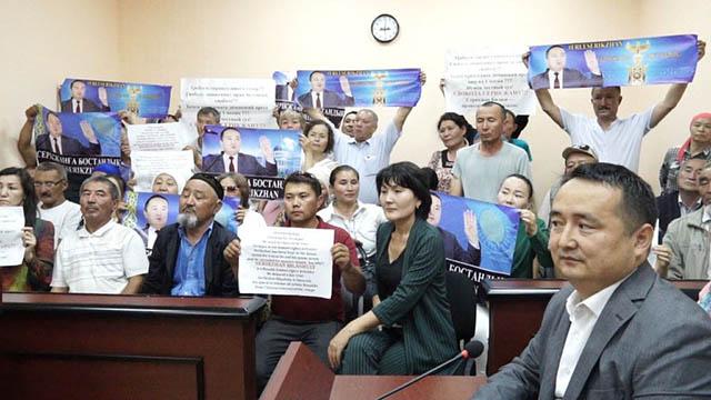 I sostenitori di Bilash manifestano a Nur-Sultan