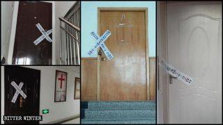 10 sale per riunioni di Sola Fide chiuse a Zibo, nello Shandong