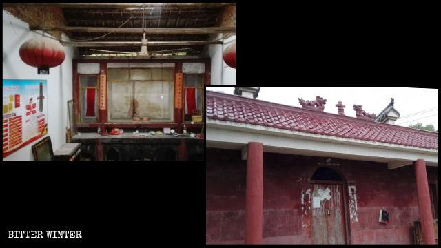 La statua buddhista è stata rimossa e il tempio di Zhujia sigillato