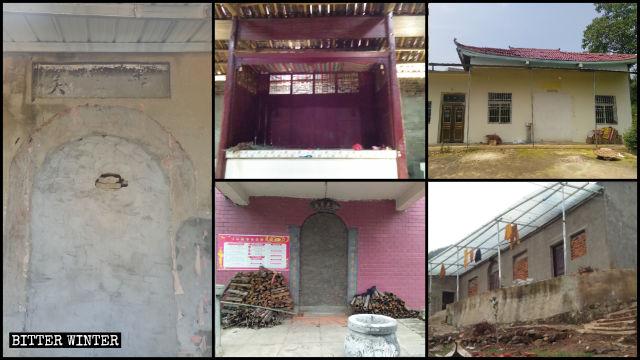 Numerosi templi sono stati eliminati e gli ingressi sigillati