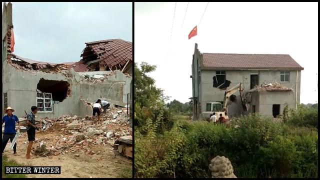 Una chiesa delle Tre Autonomie nella città di Shangrao è stata demolita