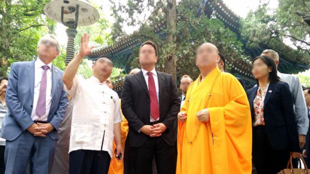 Il Abate di un tempio è ricezione estero visitatori