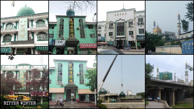 Le cupole di diverse moschee nel distretto hui Chanhe a Luoyang sono state smantellate