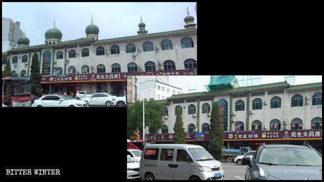 Le cupole dell'Ethnic Hotel nel distretto hui di Chanhe sono state demolite