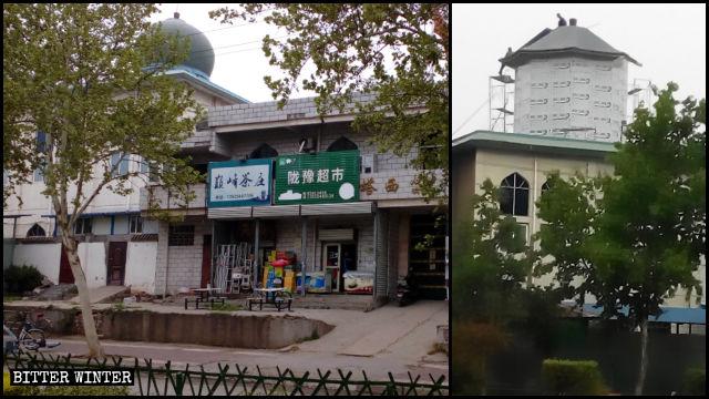 Le cupole della moschea delle donne Taxi sono state «sinizzate»