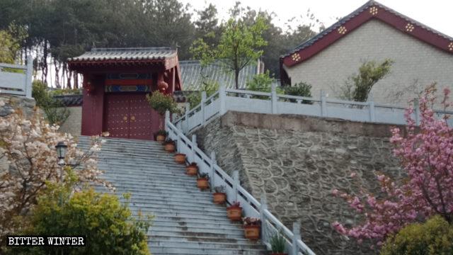 L'esterno del tempio Fuhui nel distretto di Huangpi