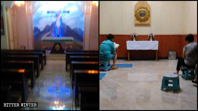 La chiesa cattolica clandestina prima e dopo essere sgomberata