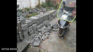 In giugno nella città di Ji le autorità hanno fatto demolire il nuovo muro di recinzione di una sede della «vecchia Local Church»