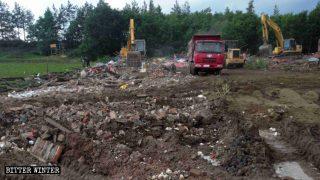 Il tempio taoista della città di Shuangyashan è stato raso al suolo