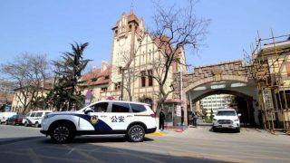 Polizia inviato by the Public Security Bureau of Qingdao city