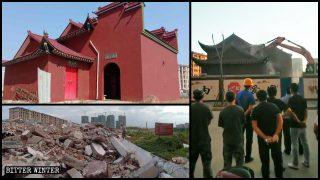 Antico tempio distrutto nonostante l'opposizione del villaggio