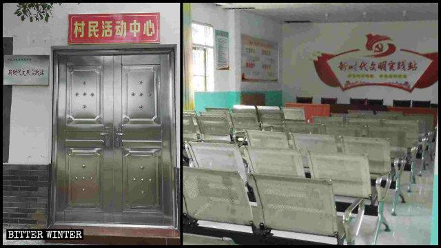 Nel distretto Dongxiang della città di Fuzhou la sala per riunioni di una chiesa delle Tre Autonomie è stata trasformata in un centro propagandistico