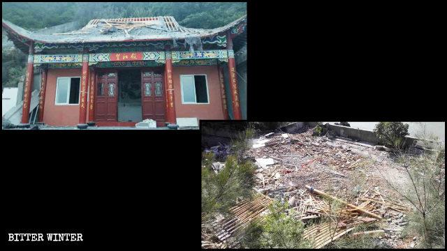 Tempio taoista nella città di Yuhuan demolito il 19 luglio