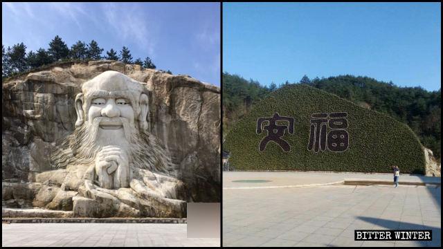 La scultura scolpita di Lao-Tzu è stata nascosta agli occhi del pubblico perché le autorità hanno affermato che violava le norme religiose