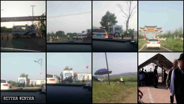 La polizia ha posizionato posti di blocco