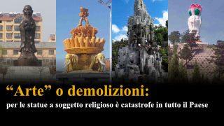 """""""Arte"""" o demolizioni: per le statue a soggetto religioso è catastrofe in tutto il Paese"""
