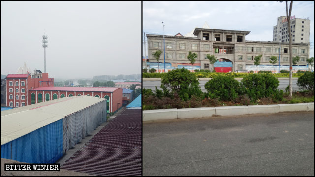 La True Jesus Church del borgo di Caidu prima e dopo la demolizione