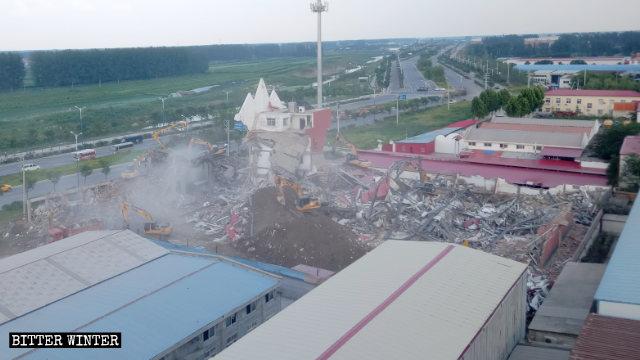 La True Jesus Church ridotta in rovine